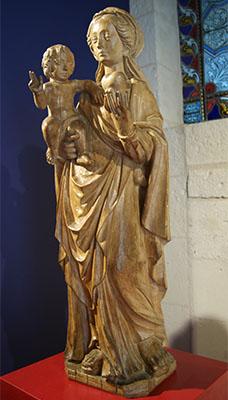 Statue de la Vierge au cœur (XVIe siècle)