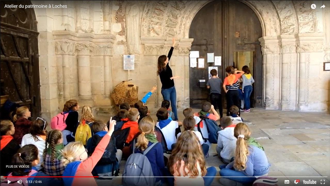 Vidéo des ateliers du patrimoine de Loches